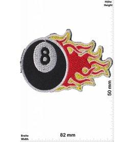 8 Ball 8 Ball flame -  black 8 -  Billiard ball with flames