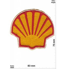 Shell SHELL - red yellow - BIG - Mussel