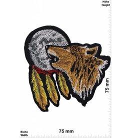 Indianer Wolf - Mond - Indianer - heulender Wolf  - Indianer