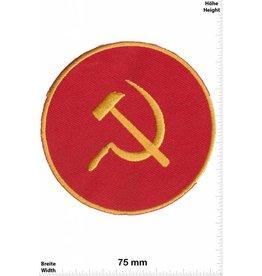 Russland, Russia Hammer - Sichel - rund - gold  -Kommunismus - Russland Patch