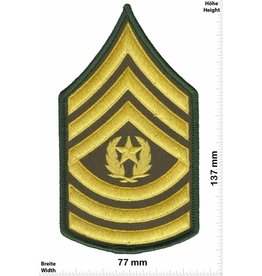 Sergant Command Sergeant Major - 3 Streifen - gold - BIG - with laurel wreath