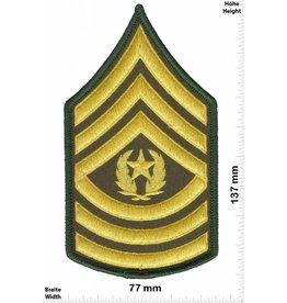 Sergant Command Sergeant Major - 3 Streifen - gold - BIG - with laurel wreath