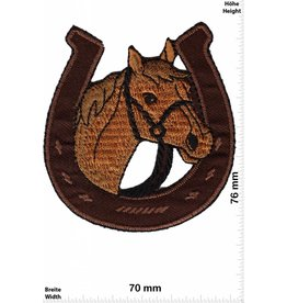 Pferd Horse with horseshoe - brown