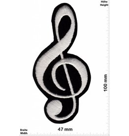 Notenschlüssel Notenschlüssel - clavis -  clave -  chiave -  clef - sehr weicher Stoff