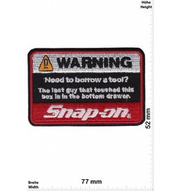 Snap-on  Snap-on Tools - WARNING - Werkzeug -- Motorsport