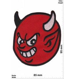 Teufel Roter Teufel - Smile - rot Devil head - Skull - Motorbike