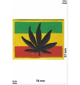 Marihuana, Marijuana Reggae Flag - Cannabis - Marihuana - Hanf - Gras - Dope - Flag