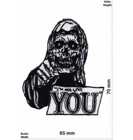 Love I not like YOU - Skull - Totenkopf -  Fun Biker Motorcycle  Kutte -