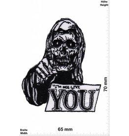 Love I not like YOU - Skull - Totenkopf -  Fun Biker Motorcycle  Kutte -