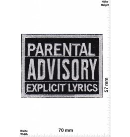 Parental Advisory Parental Advisory Explicit LYRICS - black silver /schwarz silber - US Patch -