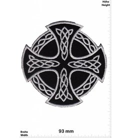 Celtic Celtic Crucifix - silver black -  round