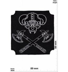 Wikinger Viking Axe - Wikinger Axt - Skull - Totenkopf - Biker