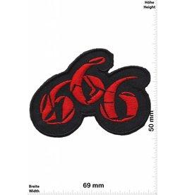 666 666 - rot - rot -  Fun Biker Motorcycle  Kutte -