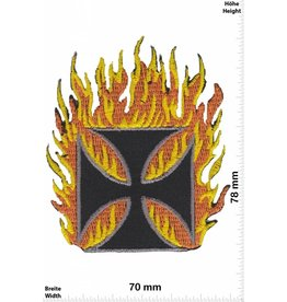 Kreuz Iron Cross in Flame