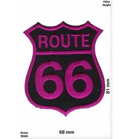 Route 66 Route 66 - purple - lila - Auto Motorcycle Biker Car Motorsport -