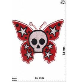 Oldschool Skull Butterfly - red