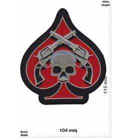 Totekopf  rot Pik - guns and Skull - Totenkopf - HQ -
