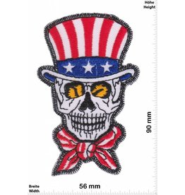 USA, USA, USA Uncle Sam Skull  - USA