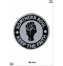 Northerm Soul Northern Soul - Keep the Faith - silver - round