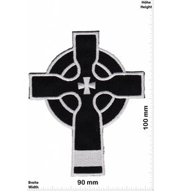 Kreuz Crucifix - Kelten - black - silver