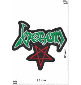 Venom Venom - Pentagram - red green  - Metal-Band- Music