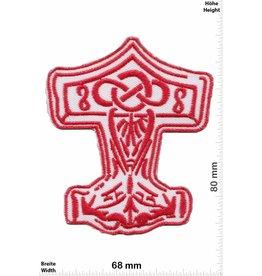 Wikinger Mjölnir - red - Viking - Thor Hammer - Loki Odin