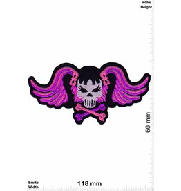 Pink Floyd Pink Lady Skull - Fly - old School
