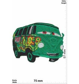 VW,Volkswagen VW Bully - VW Bus - green Flower