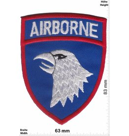 U.S. Air Force Airbone - blau silber