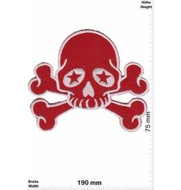 Teufel Roter Totenkopf - rot silber