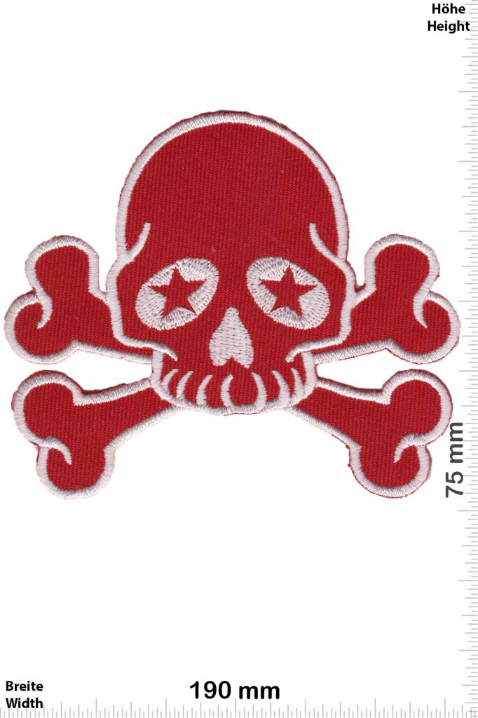 Teufel Roter Totenkopf - rot silber