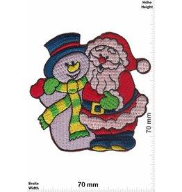 Schneemann Schneemann und Weihnachtsmann
