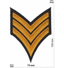 Sergant 3 Strips - gold - Sergant
