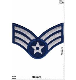 Sergant 3 Streifen - blau silber - mit Stern - Sergant