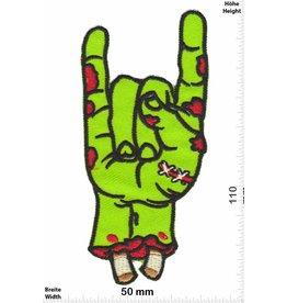Zombie Zombie Hand - Metal Sign - Pommesgabel - giftgrün