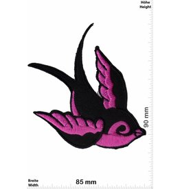 Vogel Patch - Bird left - pink