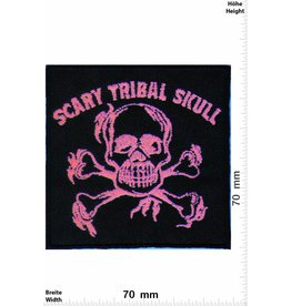 Scary Tribal Skull  Scary Tribal Skull - pink