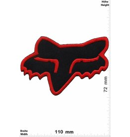 Fox Fox - Kopf - schwarz rot - BIG