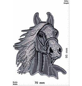 Pferd Pferdekopf - Pferde - grau