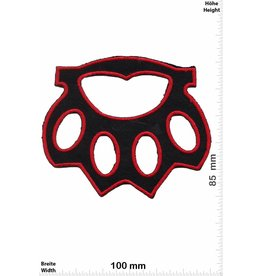 Schlagring Brass Knuckles - black red