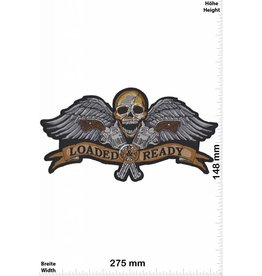 Loaded Ready  Totenkopf -  Loaded Ready - 2 Guns - Skull  - 27 cm - BIG
