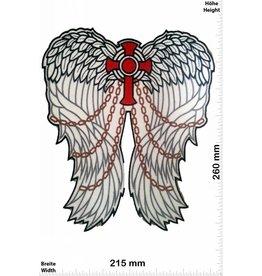 Angel Engelsflügel - Flügel - Angel - Kreuz mit Ketten - 26 cm - BIG