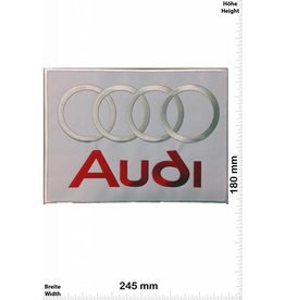 Audi Audi - silber rot weiss - silber rot weiss - 24 cm - Bigpatch  - Motorsport