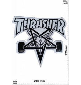 Thrasher Thrasher - white - 24 cm - BIG -Skateboard - Skater - Wheels - Skater