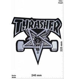 Thrasher Thrasher - black - 24 cm - BIG Skateboard - Skater - Wheels - Skater
