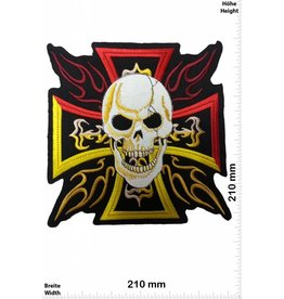 Kreuz Cross  with Skull - 21 cm - BIG