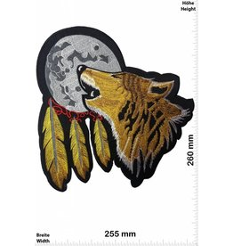 Indianer Wolf - Moon - Indian - Howling Wolf - Indians- 26 cm - BIG