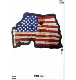 USA, USA, USA USA - Flag - Flagge  - 24 cm - BIG