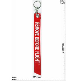 Kofferfahne, Suitcaseflag REMOVE BEFORE FLIGHT - red- Luggage tag - luggage flag
