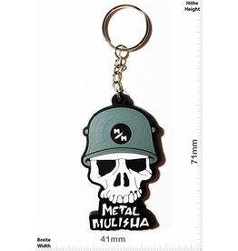 Monster Energy Metal Mulisha - Skull - Totenkopf -  grey - front